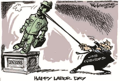 labor day cartoon humor jokes job creator unions