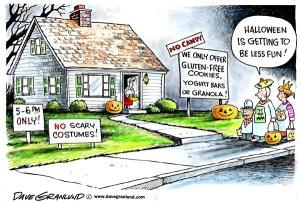 Halloween Trick or Treat cartoon gluten free