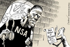 Obama nsa frankenstein cartoon