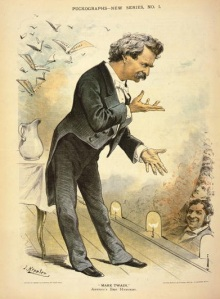Mark Twain Puck lecture Samuel Langhorne Clemens illustration