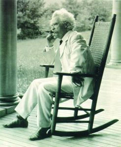 Mark Twain cigar rocking chair Samuel Langhorne Clemens