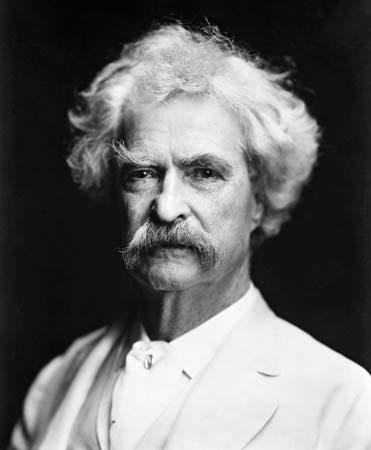 Mark Twain Samuel Langhorne Clemens white suit