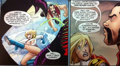 from Power Girl #7. Written by Gray and Palmiotti, art by Conner.