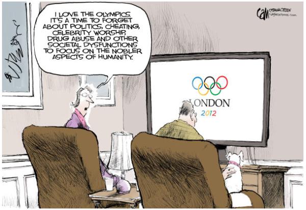 Olympics cartoon funny joke humor humour london 2012 olympiad xxx