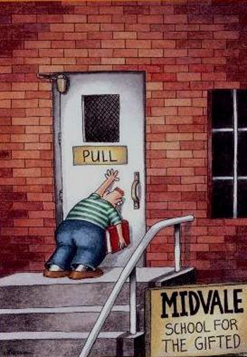 far side gifted humor education teaching