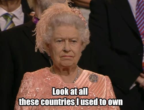 London Olympics funny humor jokes queen elizabeth countries I used to own