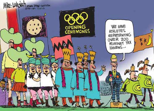 Olympic Opening Ceremony Mitt Romney cartoon comic