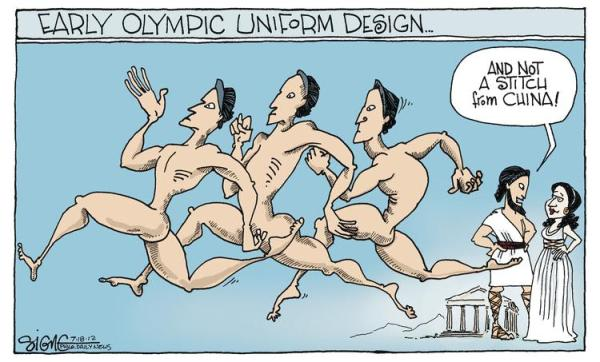 olympics london 2012 uniform cartoon funny humor jokes comedy