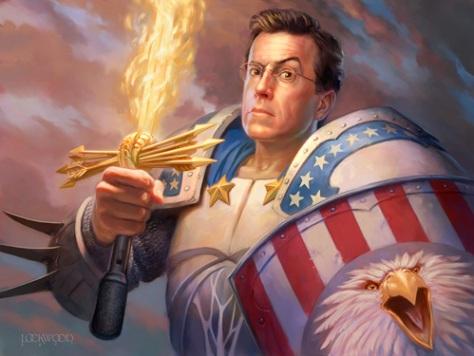 Stephen Colbert, making news this week