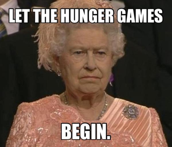 London Olympics humor humour jokes funny Queen Elizabeth hunger games