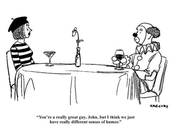 clown mime humor sense of humor cartoon academia