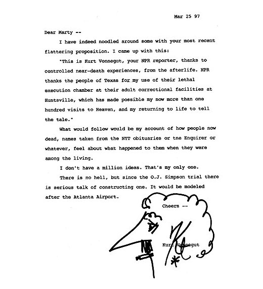 Kurt Vonnegut letters from the afterlife