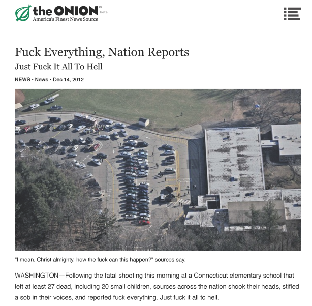 The Onion on Newtown