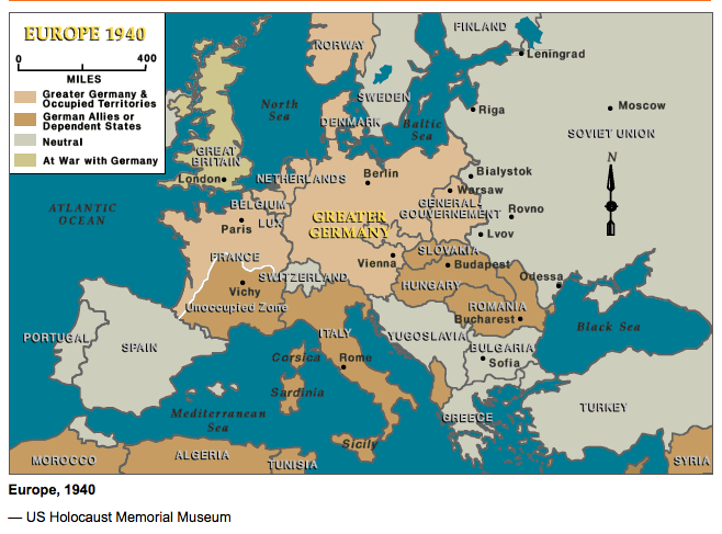 Germany Map In 1940