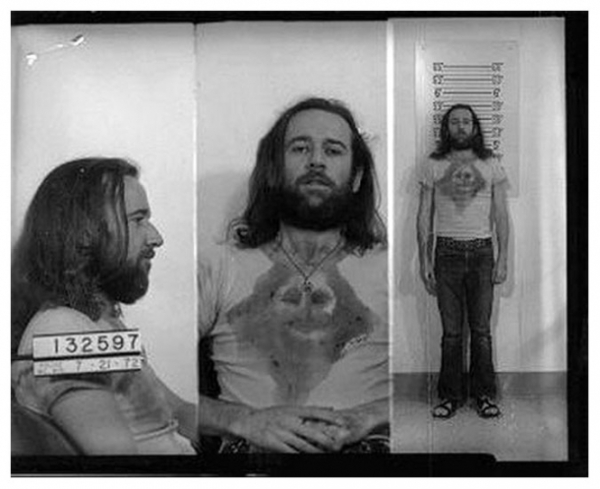 George Carlin, mug shot, seven dirty words, 1972, obscenity