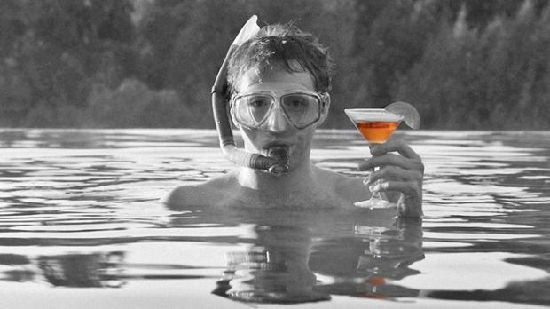 Joss Whedon Much Ado About Nothing snorkel and drink