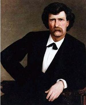 Mark Twain samuel clemens portrait painting 1877