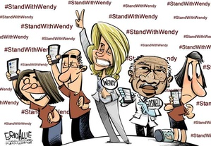 Wendy Davis cartoon
