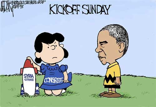 Charlie Brown Obama Football Cartoon Peanuts
