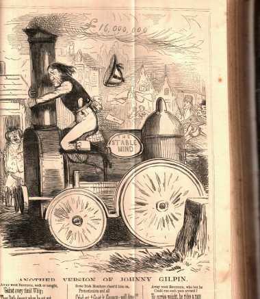 Early Train Cartoon c 1850