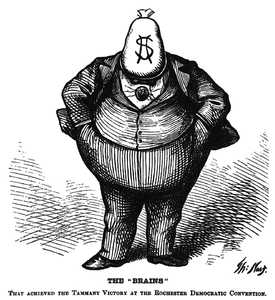Thomas Nast's famous depiction of Boss Tweed (Harper's Weekly, October 21, 1871)