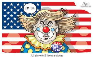 Donald as clown