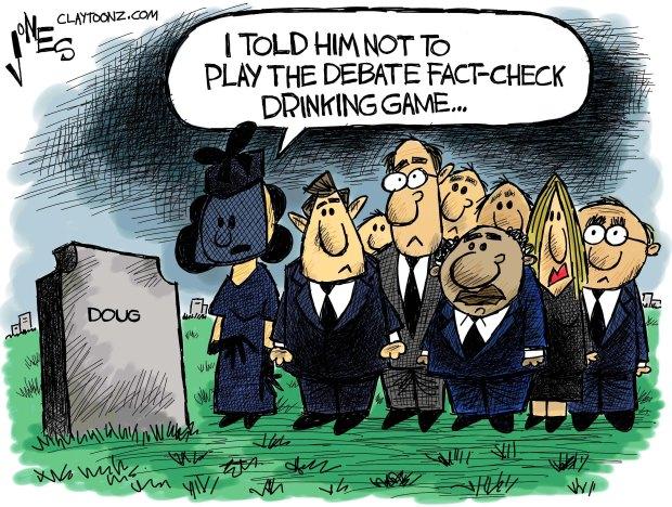 trump clinton debate cartoon 2016